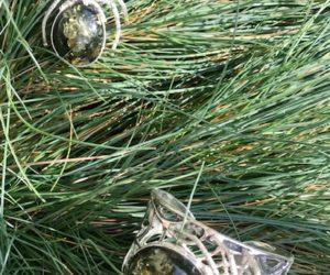 Kolekcja pająk - broszkowisior , bursztyn bałtycki,srebro 925, waga 21,4g, bransoleta, waga 53,8g
